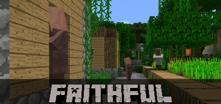Текстуры Faithful 64×64 на Майнкрафт ПЕ 0.14.0