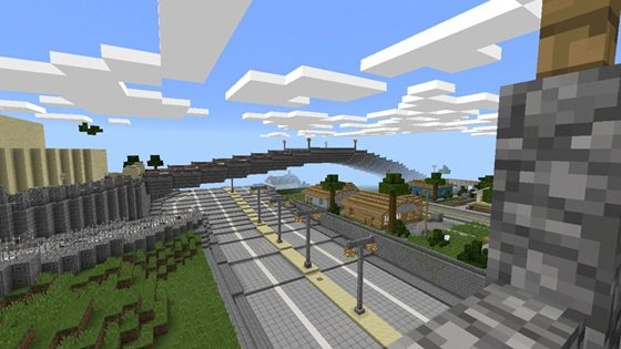 Map GTA San Andreas Hunger Games на Minecraft PE 0.14.0