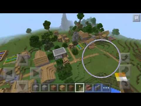 Sid The Village in the jungle and the dungeon with the monsters на Minecraft PE 0.14.0