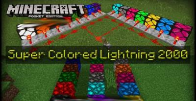 Мод Super Colour Lighting 2000 для Minecraft PE 0.15.4/0.15.3 /0.15.2 /0.15.1/0.15.0