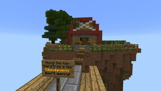 Карта Parkour Advancer для Minecraft PE 0.16.0