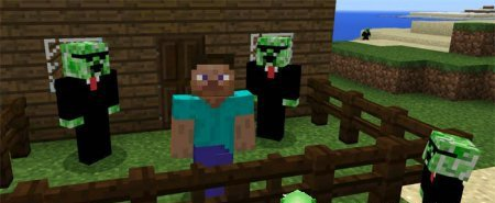 Аддон Creeper Friends для Minecraft PE 0.16.0