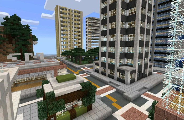 Карта Гигантский Город для Майнкрафт 0.13.0